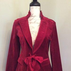 White House Black Market red holiday coat sz 6 $46
